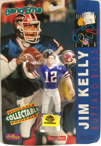 (TAS005064) - 1992 Just Toys NFL Quarterback Club Bend-em - Jim Kelly, , Action Figure, NFL, The Angry Spider Vintage Toys & Collectibles Store