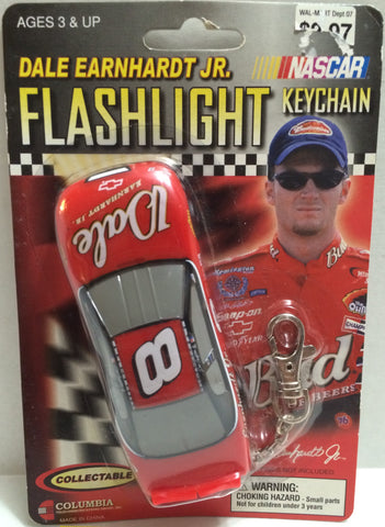 (TAS005208) - 2002 Hasbro Dale Earnhardt Jr. Racing Flashlight Keychain #8, , Keychain, NASCAR, The Angry Spider Vintage Toys & Collectibles Store