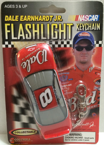 (TAS005209) - 2002 Hasbro Dale Earnhardt Jr. Racing Flashlight Keychain #8, , Keychain, NASCAR, The Angry Spider Vintage Toys & Collectibles Store