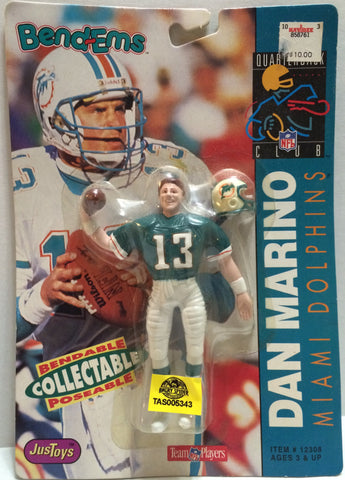(TAS005343) - 1992 Just Toys NFL Quarterback Club Poseable Bend-em - Dan Marino, , Action Figure, NFL, The Angry Spider Vintage Toys & Collectibles Store
