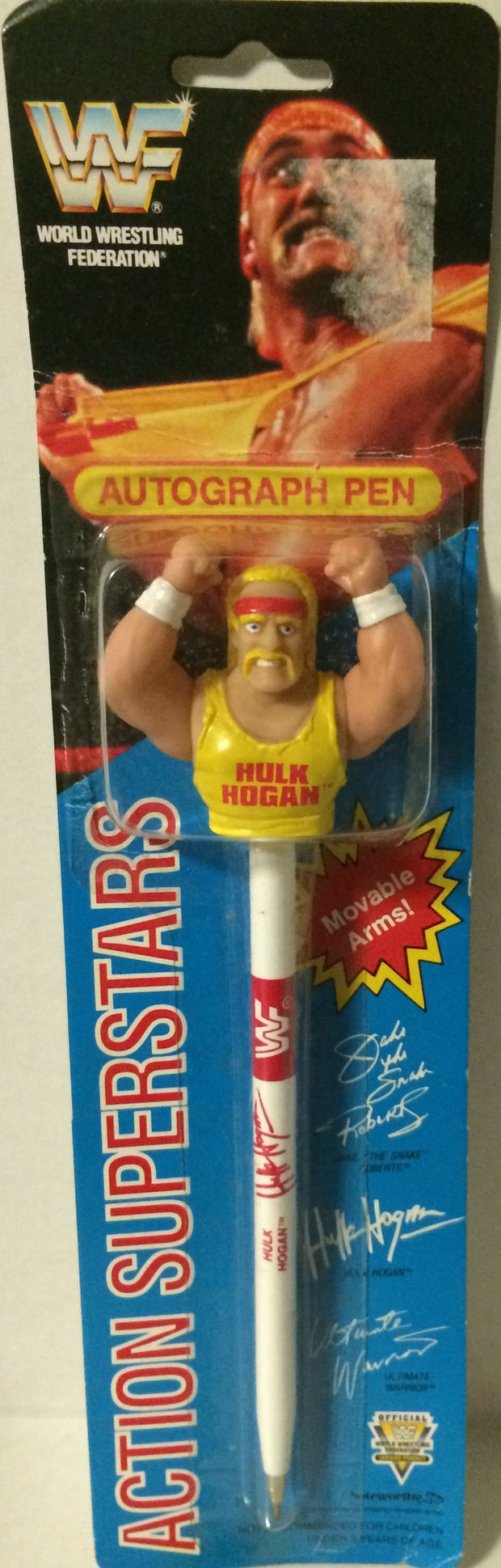 (TAS005402) - 1991 Titan Sports WWF Action Superstars Autograph Pen - Hulk Hogan, , Pen, Wrestling, The Angry Spider Vintage Toys & Collectibles Store