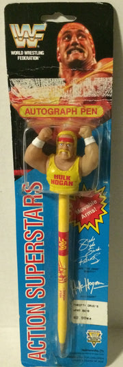 (TAS005461) - 1991 Titan Sports WWF Superstars Autograph Pen - Hulk Hogan, , Pen, Wrestling, The Angry Spider Vintage Toys & Collectibles Store