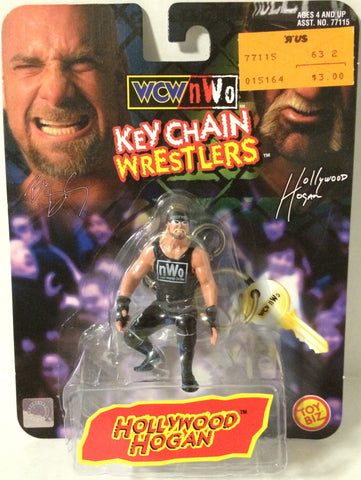 (TAS005480) - 1998 Toy Biz WCW Wrestling Key Chain Wrestler - Hollywood Hogan, , Keychain, Wrestling, The Angry Spider Vintage Toys & Collectibles Store
