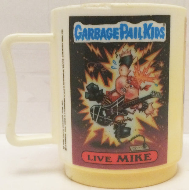 (TAS005514) - 1986 Topps Vintage Garbage Pail Kids Plastic Cup - Live Mike, , Drinkware, Wrestling, The Angry Spider Vintage Toys & Collectibles Store  - 1