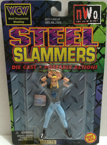 (TAS005518) - 1999 Toy Biz nWo Wrestling Steel Slammers Die Cast Figure - DDP, , Action Figure, Wrestling, The Angry Spider Vintage Toys & Collectibles Store