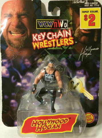 (TAS005568) - 1998 Toy Biz WCW Wrestling Key Chain Wrestler - Hollywood Hogan, , Keychain, Wrestling, The Angry Spider Vintage Toys & Collectibles Store