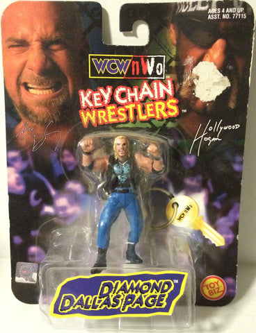 (TAS005600) - 1998 Toy Biz WCW Key Chain Wrestler - Diamond Dallas Page, , Keychain, Wrestling, The Angry Spider Vintage Toys & Collectibles Store