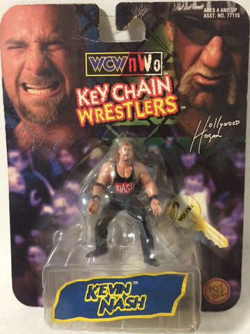(TAS005624) - 1998 Toy Biz WCW Wrestling Key Chain Wrestler - Kevin Nash, , Keychain, Wrestling, The Angry Spider Vintage Toys & Collectibles Store