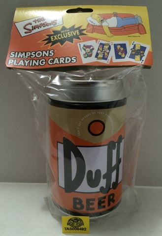 (TAS006492) - 2002 Rix Products LLC The Simpsons Cards in Duff Beer Can Case, , Game, The Simpsons, The Angry Spider Vintage Toys & Collectibles Store