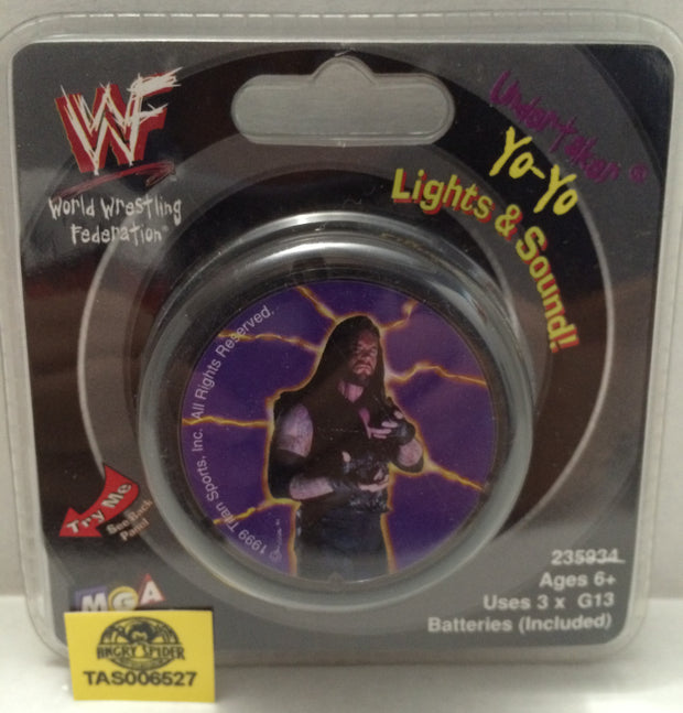 (TAS006527) - 1999 MGA WWF Wrestling Light Up Yo-Yo - Undertaker, , Yo-Yo, Wrestling, The Angry Spider Vintage Toys & Collectibles Store
