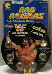 (TAS006806) - 1990 Spectra Star WWF Rad Rollors Marbles - LJN Macho Man, , Marbles, Spectra Star, The Angry Spider Vintage Toys & Collectibles Store