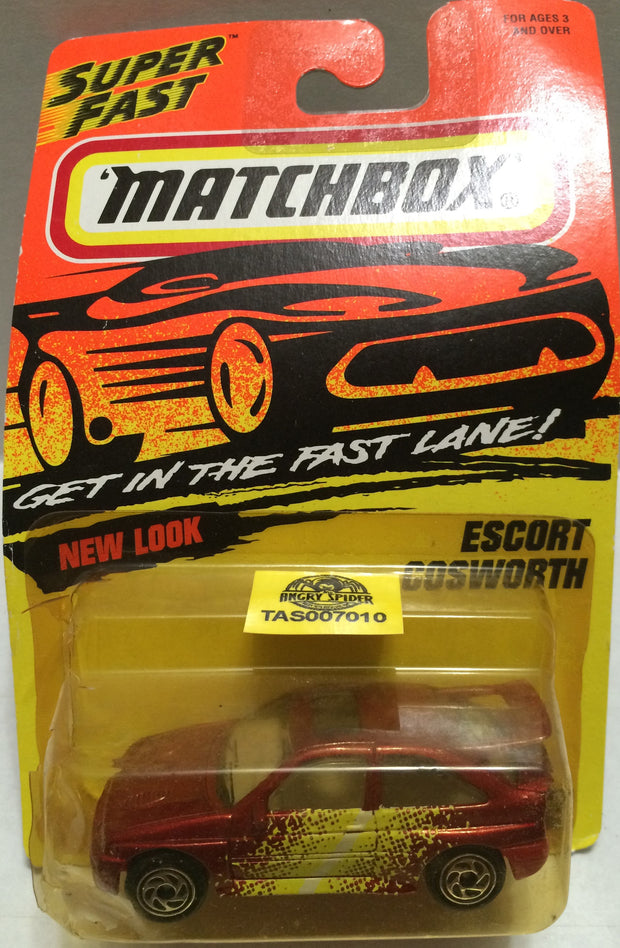 (TAS007010) - Matchbox Die-Cast Cars - Escort Cosworth, , Trucks & Cars, Matchbox, The Angry Spider Vintage Toys & Collectibles Store