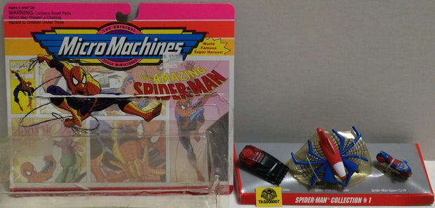 (TAS008007) - 1993 Galoob The Amazing Spiderman Micro Machines Collection 1, , Action Figures, Spiderman, The Angry Spider Vintage Toys & Collectibles Store