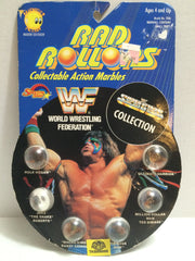 (TAS008008) - 1990 Spectra Star WWF Superstars Rad Rollors - Ultimate Warrior, , Marbles, Wrestling, The Angry Spider Vintage Toys & Collectibles Store