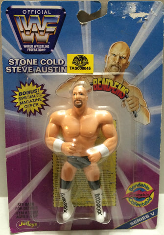 (TAS008045) - Just Toys WWF WWE Wrestling Bend-Ems Figure - Stone Cold Steve Aus, , Action Figure, Wrestling, The Angry Spider Vintage Toys & Collectibles Store