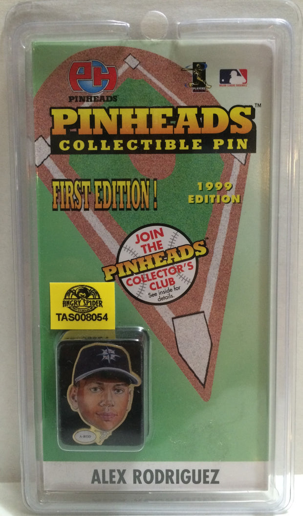 (TAS008054) - 1998 Pinheads MLB First Edition Pinheads Pin - Alex Rodriguez, , Pins, MLB, The Angry Spider Vintage Toys & Collectibles Store