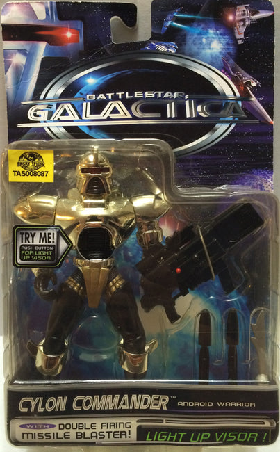 (TAS008087) - Collectible Battlestar Galactica Action Figure - Cylon Commander, , Action Figure, n/a, The Angry Spider Vintage Toys & Collectibles Store  - 1