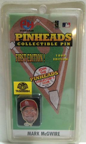 (TAS008094) - 1998 Pinheads MLB First Edition Pinheads Pin - Mark McGwire, , Pins, MLB, The Angry Spider Vintage Toys & Collectibles Store