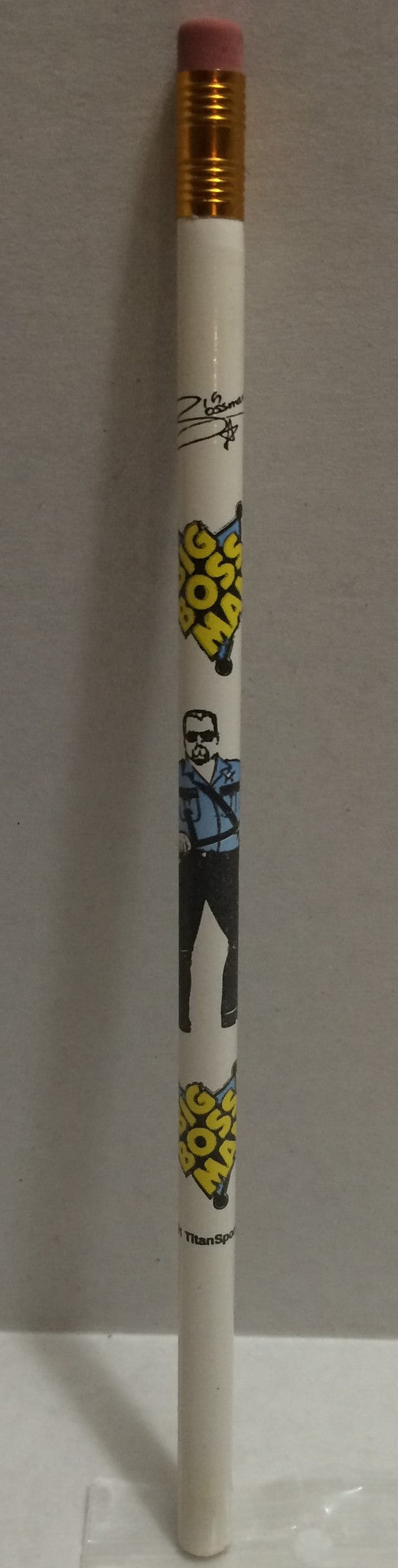 (TAS008166) - 1991 Titan Sports WWF Superstars Wrestling Pencil - Big Boss Man, , Pencils, Wrestling, The Angry Spider Vintage Toys & Collectibles Store