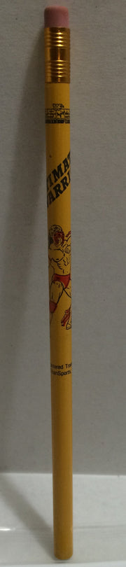 (TAS008436) - 1991 Titan Sports WWF Superstars Pencil - Ultimate Warrior Yellow, , Pencils, Wrestling, The Angry Spider Vintage Toys & Collectibles Store