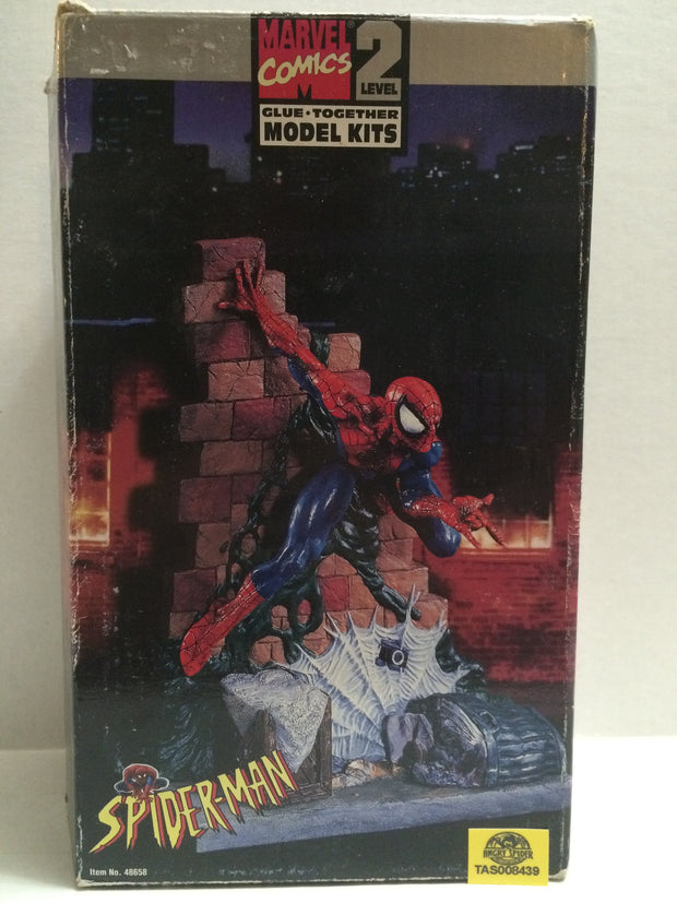 (TAS008439) - 1996 Toy Biz Marvel Level 2 Glue Together Model Kit - Spiderman, , Models, Spiderman, The Angry Spider Vintage Toys & Collectibles Store