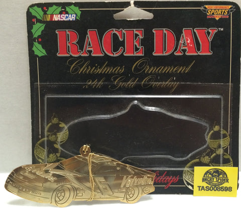 (TAS008598) - Nascar Race Day Christmas Ornament 24k Gold Overlay #6 Mark Martin, , Ornament, Nascar, The Angry Spider Vintage Toys & Collectibles Store
