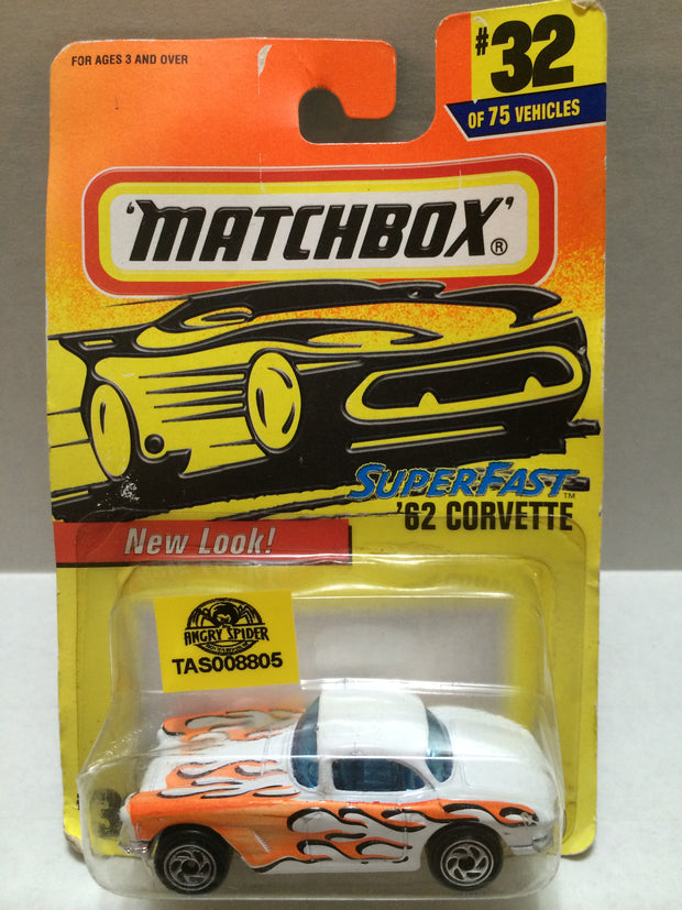 (TAS008805) -  Matchbox Racing Car - '62 Corvette, , Trucks & Cars, Matchbox, The Angry Spider Vintage Toys & Collectibles Store