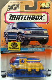 (TAS008806) -  Matchbox Die-Cast Racing Car - Ocean Submersible #45, , Trucks & Cars, Matchbox, The Angry Spider Vintage Toys & Collectibles Store