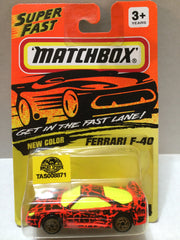 (TAS008871) -  Matchbox Racing Car - Ferrari F-40, , Trucks & Cars, Matchbox, The Angry Spider Vintage Toys & Collectibles Store
