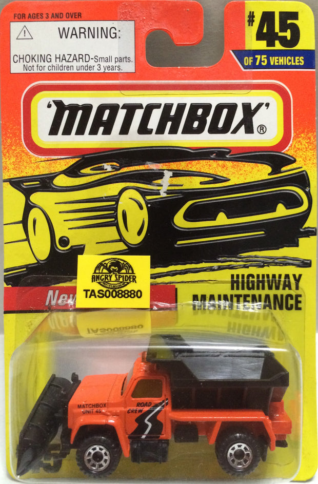 (TAS008880) -  Matchbox Die-Cast Racing Car -  Highway Maintenance #45, , Trucks & Cars, Matchbox, The Angry Spider Vintage Toys & Collectibles Store