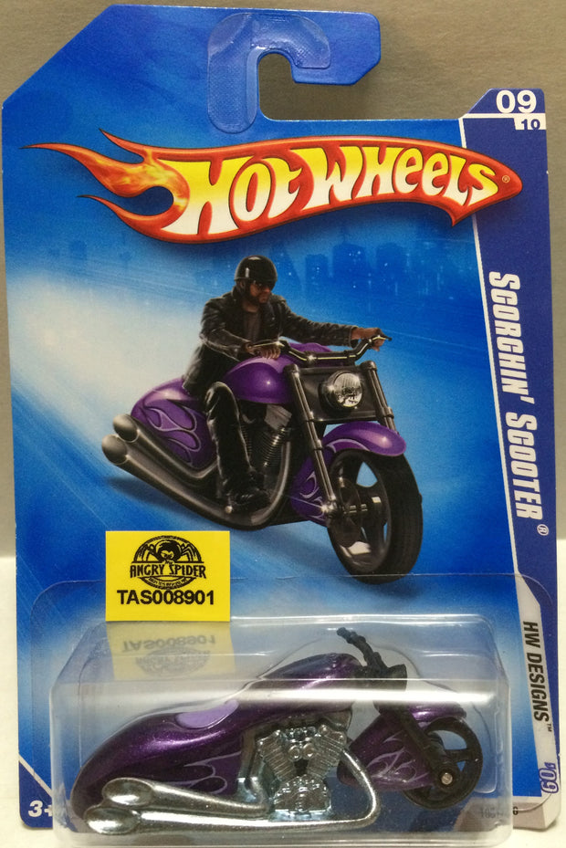 (TAS008901) - Mattel Hot Wheels Racing Die-Cast Scorchin' Scooter, , Trucks & Cars, Hot Wheels, The Angry Spider Vintage Toys & Collectibles Store
