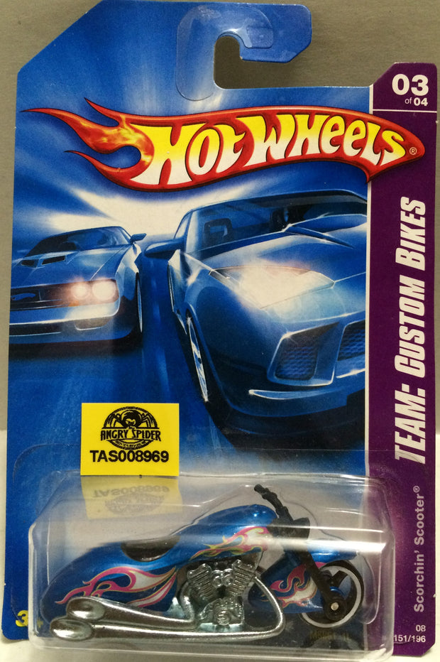 (TAS008969) - Mattel Hot Wheels Racing Stock Car - Scorchin' Scooter, , Trucks & Cars, Hot Wheels, The Angry Spider Vintage Toys & Collectibles Store