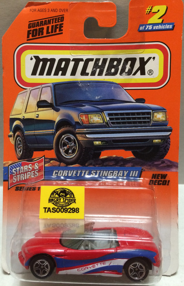 (TAS009433) - Matchbox Die-Cast - Corvette Stingray III #2 of 75, , Trucks & Cars, Matchbox, The Angry Spider Vintage Toys & Collectibles Store