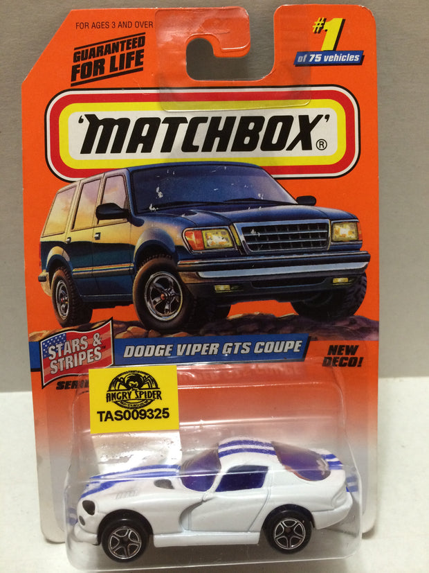 (TAS009325) - Matchbox - Stars & Stripes Dodge Viper GTS Coupe #1 of 75, , Trucks & Cars, Hot Wheels, The Angry Spider Vintage Toys & Collectibles Store