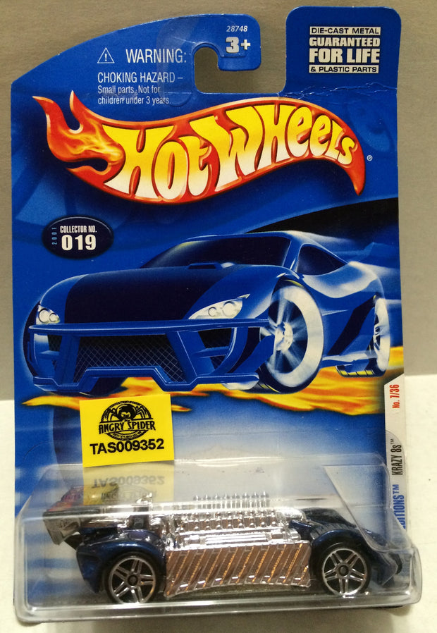(TAS009352) - Mattel Hot Wheels Racing Stock Car - Krazy 8, , Trucks & Cars, Hot Wheels, The Angry Spider Vintage Toys & Collectibles Store