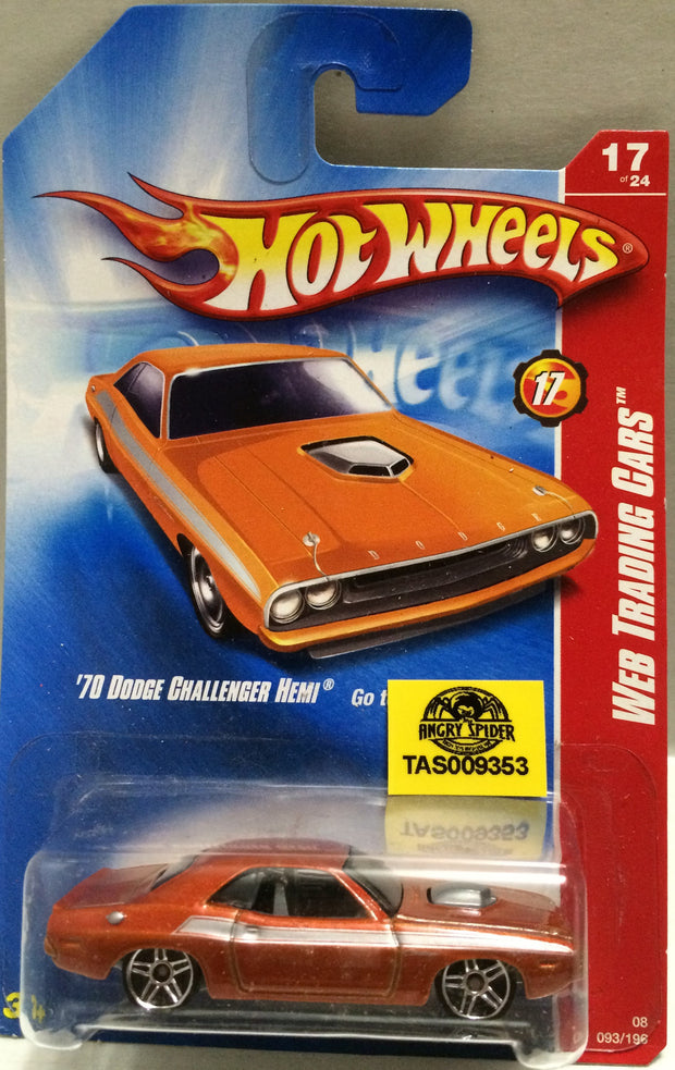 (TAS009353) - Mattel Hot Wheels Die-Cast - '70 Dodge Challenger Hemi Web Trading, , Trucks & Cars, Hot Wheels, The Angry Spider Vintage Toys & Collectibles Store