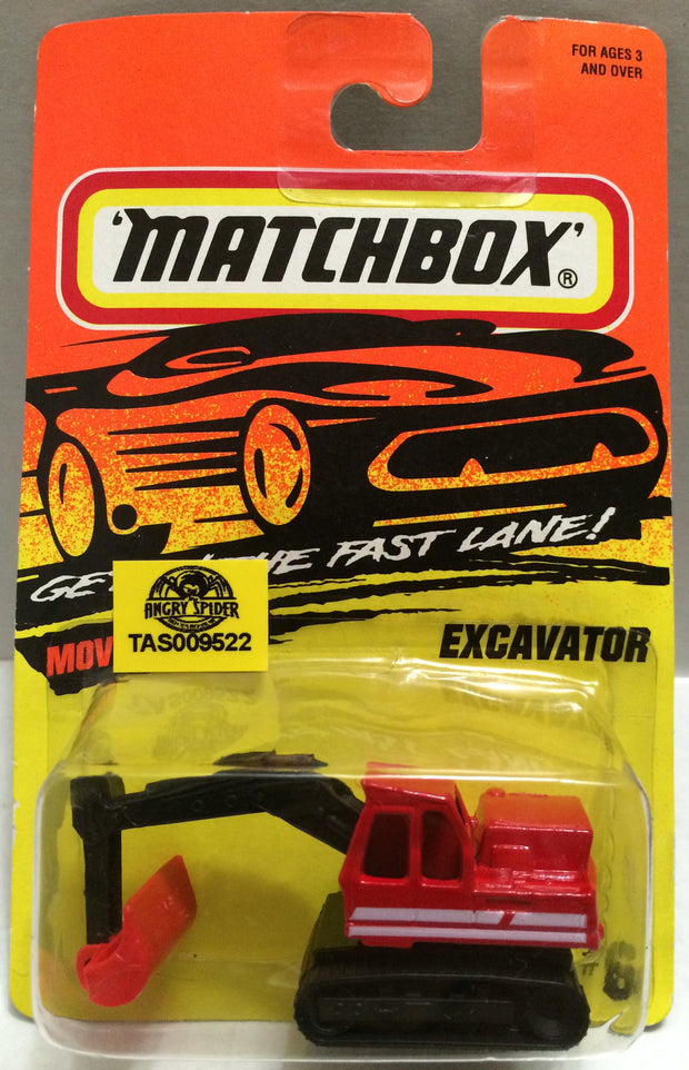 (TAS009522) - Matchbox Racing Die-Cast Stock Car - Excavator, , Trucks & Cars, Matchbox, The Angry Spider Vintage Toys & Collectibles Store