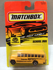 (TAS009525) - Matchbox Racing Stock Car - School Bus, , Trucks & Cars, Matchbox, The Angry Spider Vintage Toys & Collectibles Store