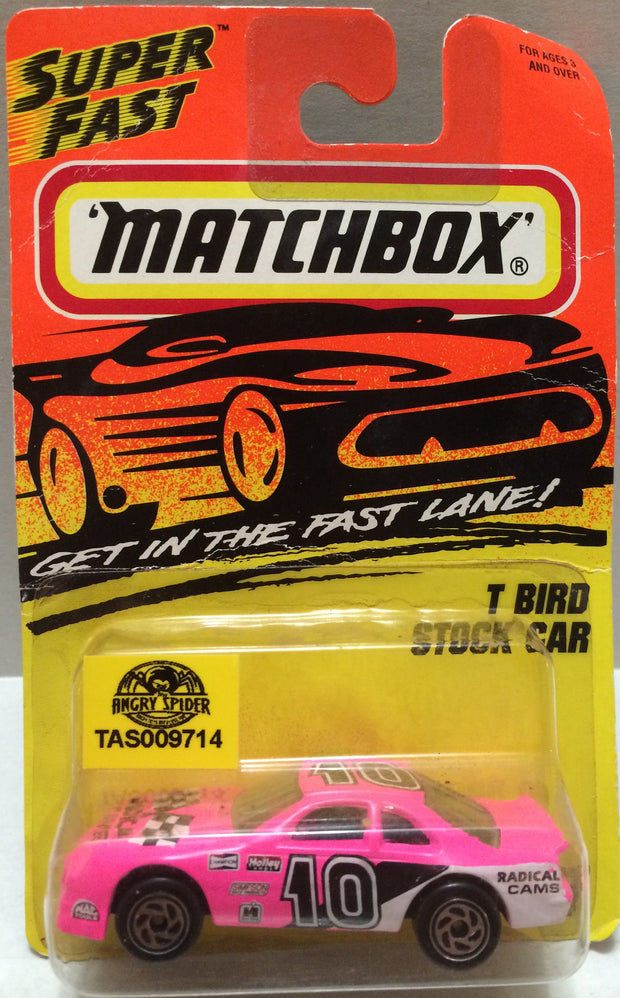 (TAS009231) - Matchbox - SuperFast T-Bird Stock Car #7 of 75, , Trucks & Cars, Matchbox, The Angry Spider Vintage Toys & Collectibles Store
