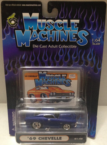 (TAS010425) - 2000 Muscle Machines 1:64 Die-Cast - '69 Chevelle (01-48) Car, , Trucks & Cars, Muscle Machine, The Angry Spider Vintage Toys & Collectibles Store  - 1