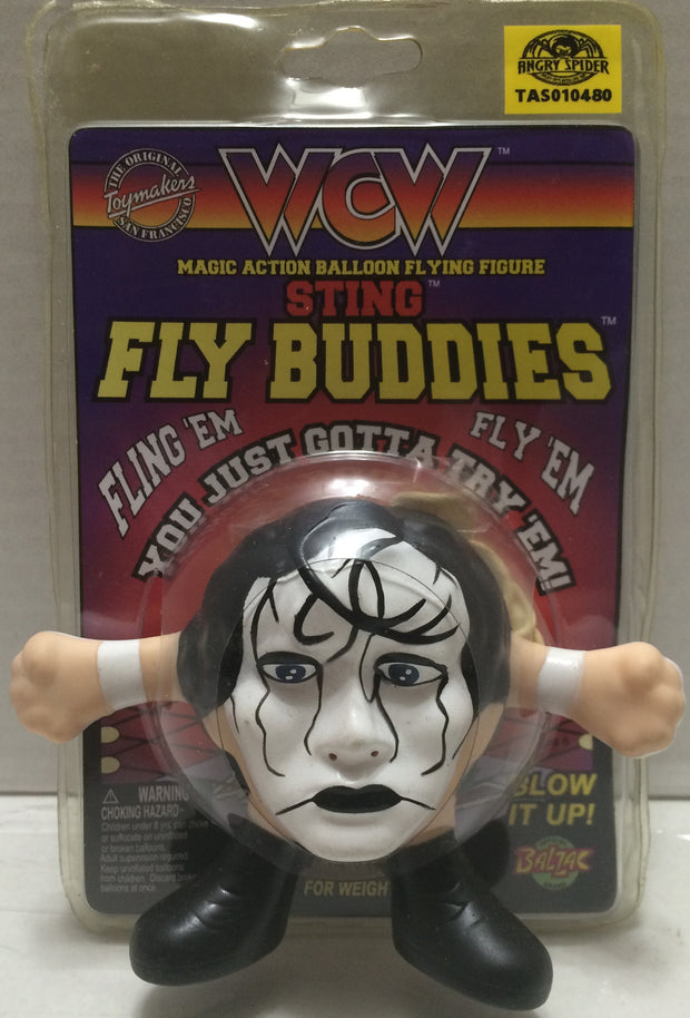 (TAS010480) - 1997 Toymakers WCW Magic Action Balloon Fly Buddies - Sting, , Flyer, Wrestling, The Angry Spider Vintage Toys & Collectibles Store  - 1