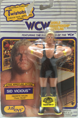 (TAS010517) - 1990 Just Toys Twistables WCW - Sid Vicious, , Action Figure, Just Toys, The Angry Spider Vintage Toys & Collectibles Store  - 1