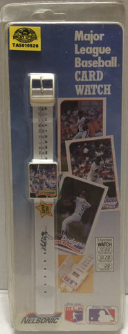 (TAS010526) - 1989 Nelsonic MLB Card Watch - Oakland A's Mark McGwire, , Watch, MLB, The Angry Spider Vintage Toys & Collectibles Store  - 1