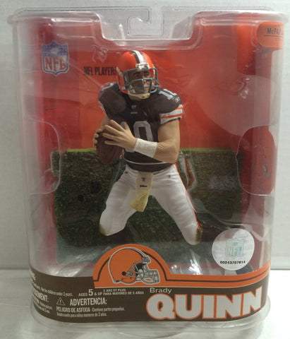 (TAS010540) - McFarlane Toys NFL Sports Picks Series16 - Brady Quinn - Cleveland, , Action Figure, McFarlane, The Angry Spider Vintage Toys & Collectibles Store  - 1