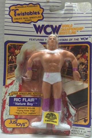 "(TAS010541) - 1990 Just Toys WCW Twistables - ""Nature Boy"" Ric Flair, , Action Figure, Just Toys, The Angry Spider Vintage Toys & Collectibles Store  - 1"