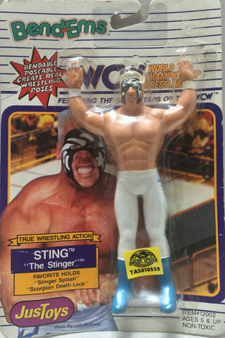"(TAS010559) - 1990 Just Toys WCW Twistables - ""The Stinger"" Sting, , Action Figure, Just Toys, The Angry Spider Vintage Toys & Collectibles Store  - 1"