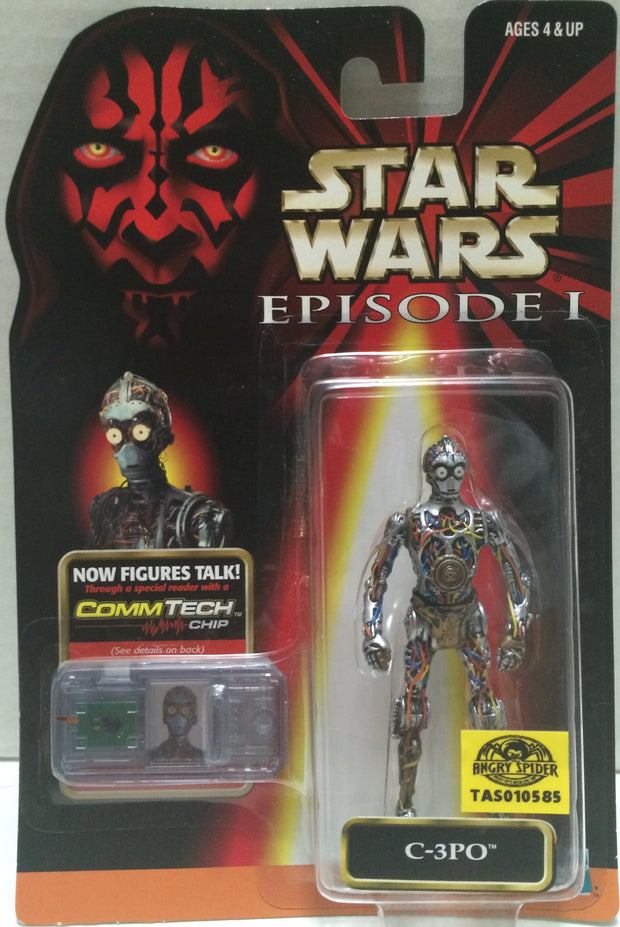 (TAS010585) - 1998 Hasbro Star Wars Episode 1 - C-3PO, , Action Figure, Star Wars, The Angry Spider Vintage Toys & Collectibles Store  - 1