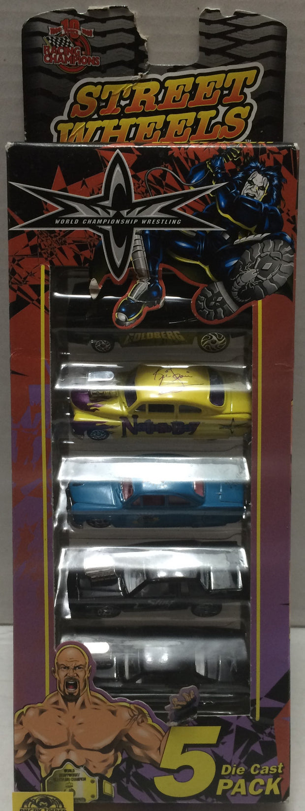 (TAS010599) - 1999 Racing Champions WCW Die Cast Street Wheels - 5 Car Set, , Trucks & Cars, Wrestling, The Angry Spider Vintage Toys & Collectibles Store  - 1