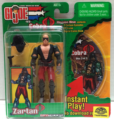 (TAS010802) - 1988 Hasbro G.I. Joe vs Cobra Spy Troops Action Figure - Zartan, , Action Figure, G.I. Joe, The Angry Spider Vintage Toys & Collectibles Store  - 1