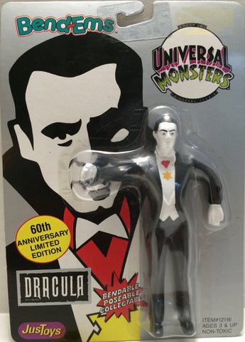 (TAS030162) - 1990 Just Toys Bend-Ems Universal Monsters - Dracula 60th, , Action Figure, Just Toys, The Angry Spider Vintage Toys & Collectibles Store